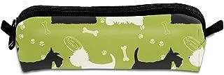 Dogs Silhouettes Scottie Westie Animals Wildlife Dog Students Pencil Case Pen Pouch Work Office Craft Supplies Boys Girls 8.3 X 2.2 X 2 inch