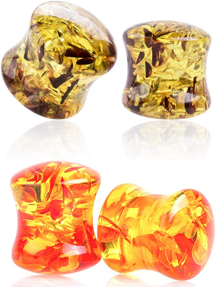 LIZD Clearance SALE Limited time Jewelry Set of 2 Pairs Expa Saddle Acrylic Tunnel Fixed price for sale Ear Plugs
