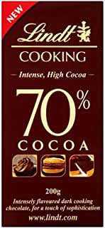 Lindt 70% Chocolate Cooking Bar (200g) - Pack of 2