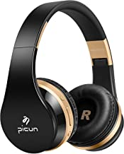 Bluetooth Wireless Headphones, Noise Isolation Headphones HiFi Earphones with Mic, Lightweight Foldable Headset, Compatible with iPhone,Ipad, iPod, Android,Samsung and FM Radio Wired Mode (Black)