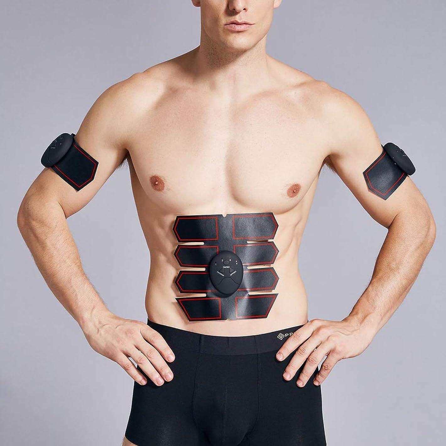 クライストチャーチ成果スリチンモイ新しい腹筋トレーナーEMSワイヤレス筋肉刺激装置体重減少腹部トレーナー美容機全身マッサージエクササイズフィットネス機器ユニセックス,Black