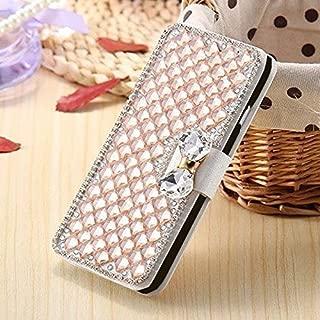 Moto G3 Case Fashion Premium PU Leather Bling Diamond Magnetic Full Diamond Cube Case for Motorola Moto G3 G 3rd Gen XT1540 XT1550 / MOTO G TURBO EDITION XT1556 Wallet Leather Card Slots Cover
