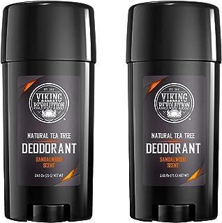 Viking Revolution - 2 Pack Natural Mens Deodorant, Parabens and Aluminum Free Deodorant for Men - Men's Deodorant with Lon...