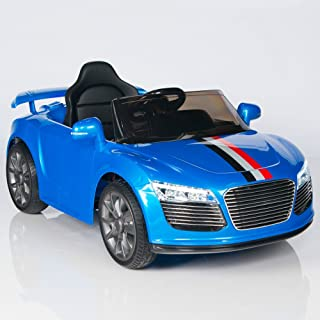 EuroPacific Brands Audi R8 Style Kids 12V Battery Powered Wheels Ride On Car MP3 RC Remote Blue
