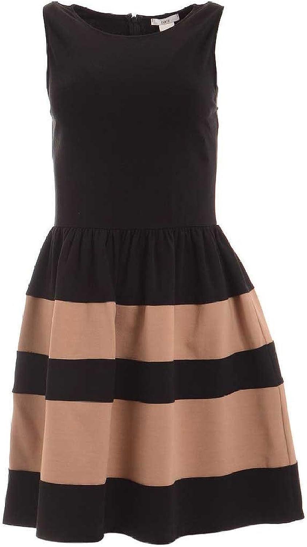 Bar III Womens Striped Sleeveless Casual Dress