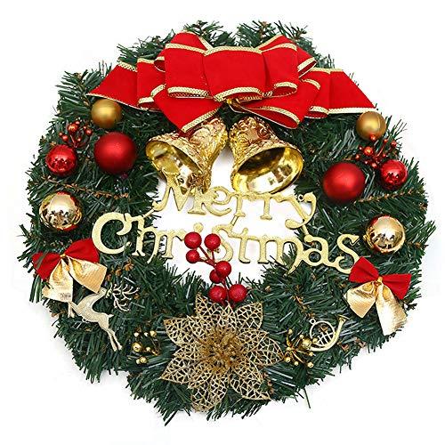 CHEPL Couronne de noël Couronnes de Noël Suspendues Décoration de Noel Couronne de Noel Florale Decoration pour Noël, intérieur, extérieur, fenêtres, Murs, Nouvel an 30cm