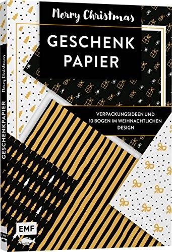 Das Geschenkpapier-Set – Merry Christmas: Verpackungsideen und 10 Bogen im weihnachtlichen Design: 10 Bogen, 80 x 59 cm