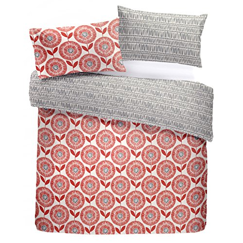Fusion - Ada - Easy Care Duvet Cover Set - King Bed Size in Spice