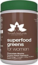 Green Superfoods Cocoa Mocha Chocolate for Women by Torrie's Naturals, Made with Real Organic Foods, Doctor Formulated with Vitamins, Fruits, Vegetables, Prebiotics, Digestive Enzymes and Probiotics.