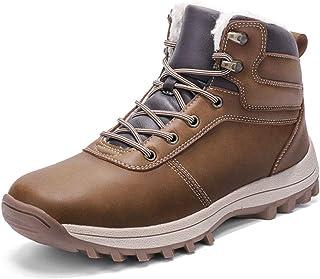 comprar comparacion Botas de Nieve Hombre Impermeable Botas de Invierno Antideslizante Calientes Botines Sneakers