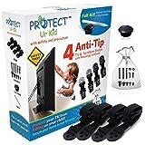 Protect Ur Kid Anti Tip Furniture Anchor & TV Straps w/Ultra-Strong Mounting Hardware