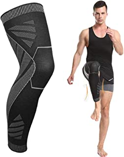 Compression Knee Brace,1 Piece Knee Support Sleeve,TERSELY Full Leg Long Stretch Legging With Nylon Silicone High Elastic ...