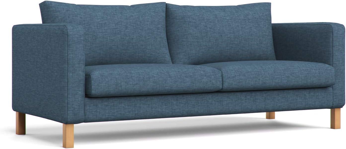 IKEA Karlstad BLEKINGE WHITE 3 Seat Sofa SLIPCOVERS Covers Cotton Twill Fullsize