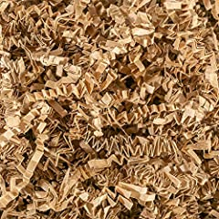 Contains (2 LB) Of Crinkle Cut Paper Shred Filler - Kraft Crinkle cut colored shredded paper makes a great bed for displaying your product Perfect for Gift Wrapping & Basket Filling those extra spaces you have in your packages Attractive void fill fo...