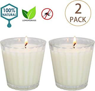 YIHANG Citronella Candles Scented, Giant 1lb Natural Soy Wax, Glass Jar 4 oz, 25-30 Hour Burn,  Outdoor Indoor
