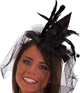 Jacobson Hat Company Mini Witch Hat with Headband/Flowers