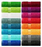 Lashuma toalla de sauna de la serie Linz, toalla grande color: rojo, toalla de...