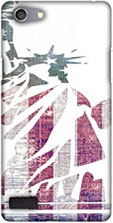 AMZER Slim Fit Handcrafted Designer Printed Snap On Hard Shell Case Back Cover for Oppo Neo 7 - Statue of Liberty- USA Flag HD Color, Ultra Light Back Case