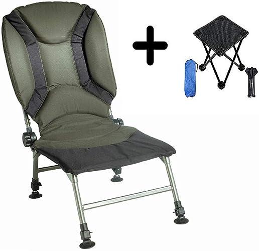 Hxx Chaises de pêche avec Bras Chaise de pêche en Plein air Chaise de pêche Multifonction Chaise de pêche Portable Pliable avec Petit Tabouret de Camping Pliant