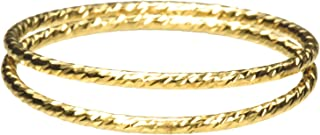 2 14K Gold Filled Sparkle Stacking Ringss Assorted Sizes
