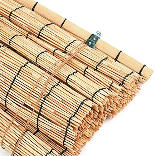 KDDEON Persianas Enrollables de Bambú de Privacidad de Pantalla de Partición,Persianas de Caña Tejida Natural,Cortina de Paja Decorativas Sombrilla,para Restaurante/Casa de Té (110x160cm/43x63in)