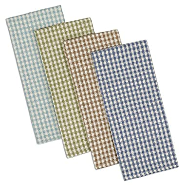 DII Cotton Heavyweight Plaid Dish Towels Kitchen Gift, 18 x 28  Set of 4, Drying and Cleaning Kitchen Towels for Everyday Cooking and Baking-Lake House Check