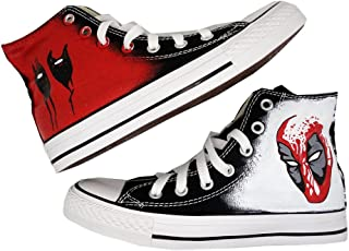 Marvel Comics Design Christmas Fashion Sneaker High Top Canvas Painted Shoes Custom Shoe