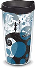 Tervis 1297837 Disney - Nightmare Before Christmas 25th Anniversary Insulated Tumbler with Wrap and Black Lid, 16oz, Clear