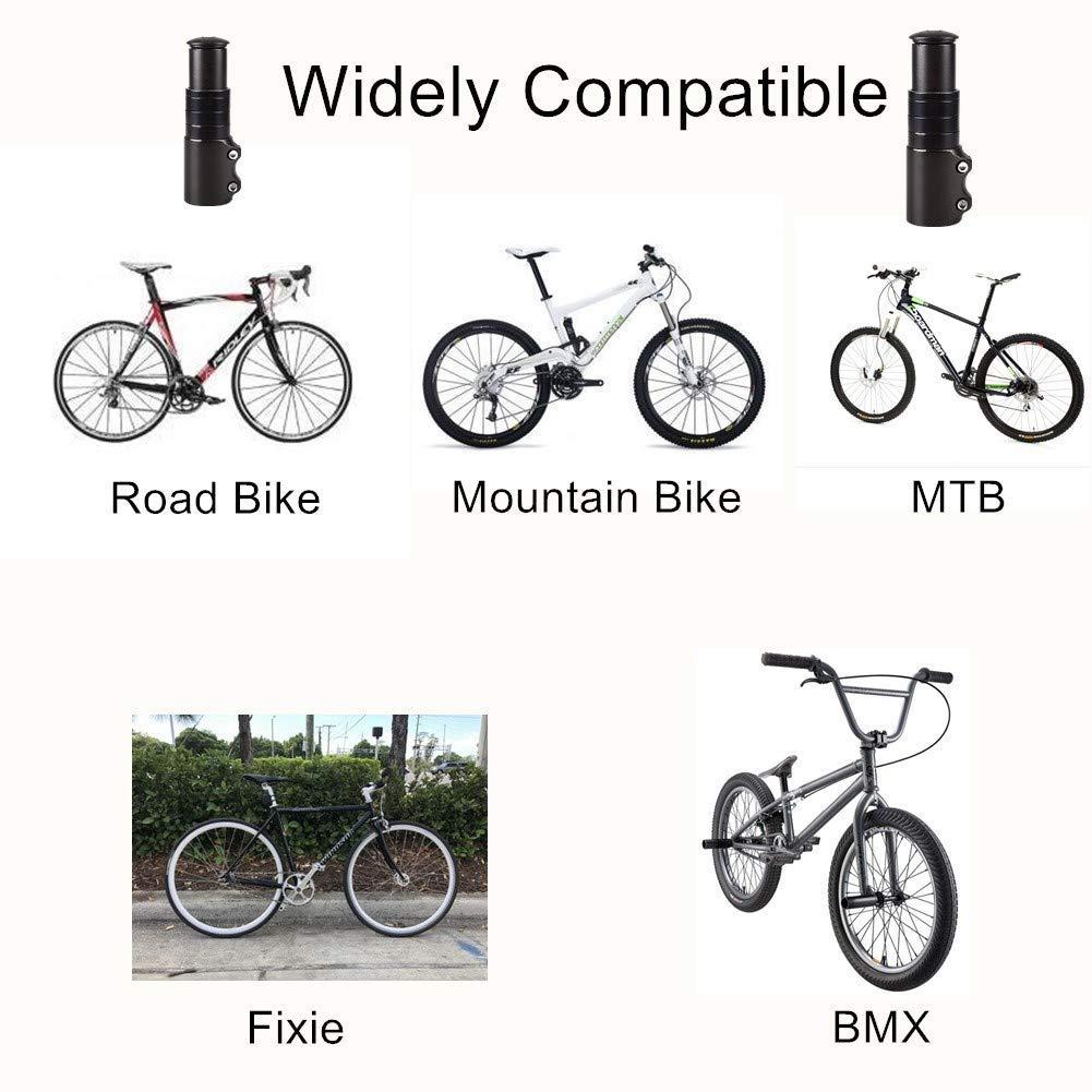 Bike Aluminum Handlebar Increase 120mm Bike Lenkergabel Stem Extension Aluminium