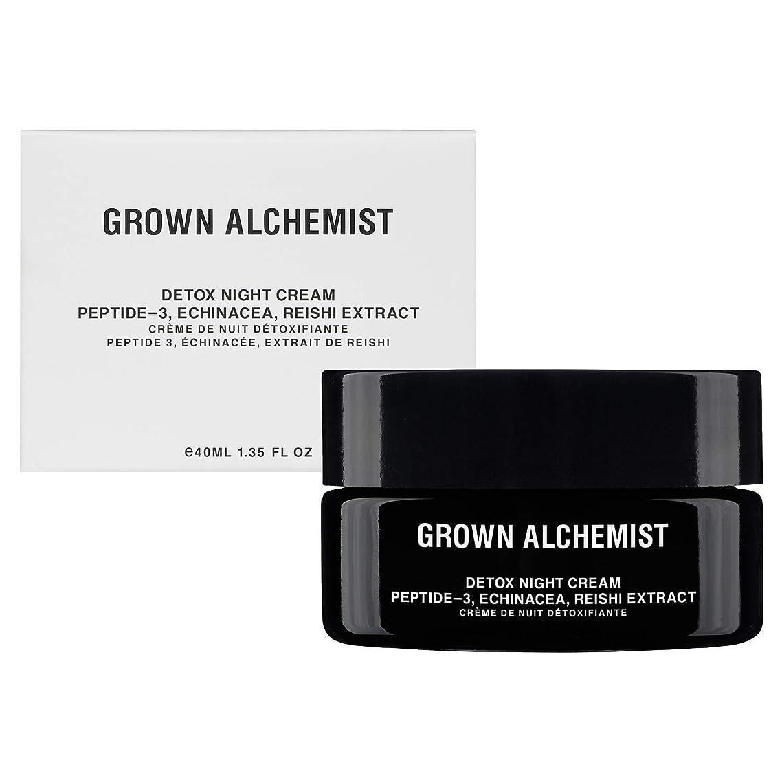 コンベンション廃止ホバーGrown Alchemist Detox Night Cream - Peptide-3, Echinacea & Reishi Extract 40ml/1.35oz並行輸入品