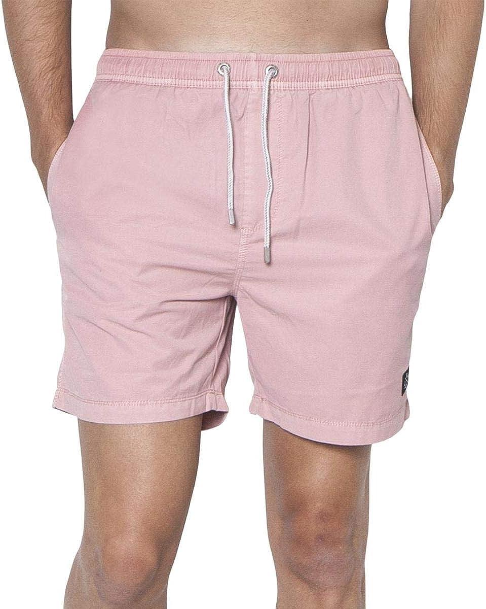 ZGY Denim Mens Lightweight Beach Casual Shorts Pink