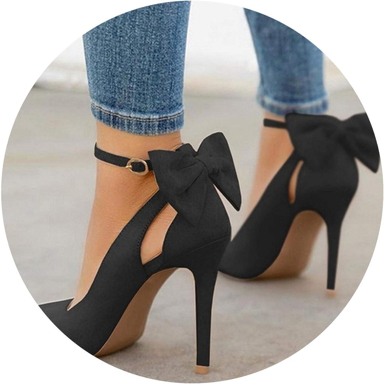 Wild Little Cat Women High Heels Pumps Women shoes Pointed Toe Buckle Strap Butterfly Sexy Plus Size