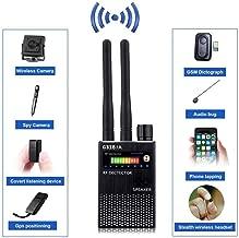 Ultra-Sensitive RF Signal Detector, Hidden Device Detector Full Range Wireless Anti-Spy Bug Detector GSM GPS Tracker Device Finder Detector Audio Bug Detect Hidden Camera with LED Flashing(Black)