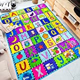 teytoy Baby Play Mat, Kids Rug Floor Gyms Playmat Baby Crawling Mat Super Soft Carpet Extra Thick (0.6cm), Plush Surface Foldable Non-Slip Non-Toxic, 112 * 151cm