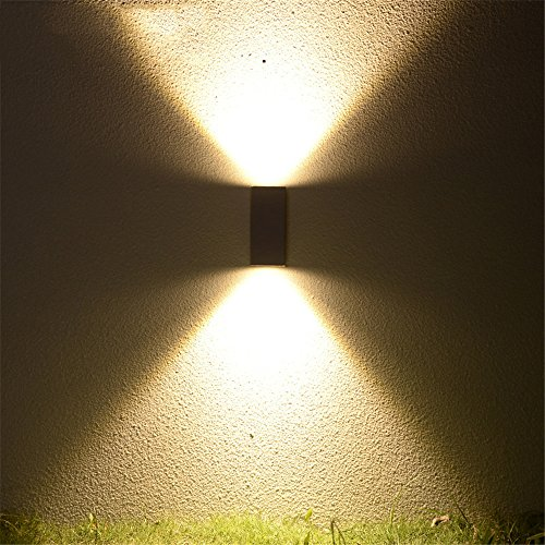 JJZHG Wandlamp, waterdicht, led, buitenverlichting, waterdicht, dubbele koplamp, binnenplaats, licht, huishouden, buitenmuur, balkon, enkele kop, A, wandverlichting