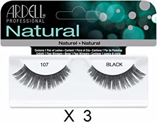 Ardell Natural Lashes 107 Black (Pack of 3)