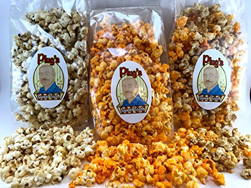 Affordable Plug's Sweet Tooth Gourmet Popcorn Savor The Flavor Trio