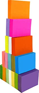 4A Sticky Notes,1 3/8 x 1 7/8 Inches,Small Size,The Adhesive On Longer Side,Neon Assorted,Self-Stick Notes,18 Colors,100 Sheets/Pad,18 Pads/Pack,4A 354818