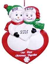 Personalized Our 1st Christmas Together Snowman Couple Ornament 2019