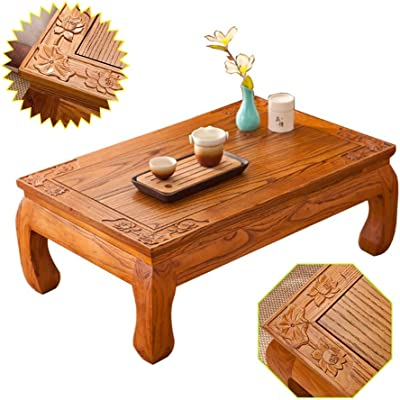 Coffee Tables Japanese Tatami Bay Window Coffee Table Balcony Tea Ceremony Table Leisure Low Table Calligraphy Study Table Tables (Color : Wood, Size : 50 * 40 * 25cm)