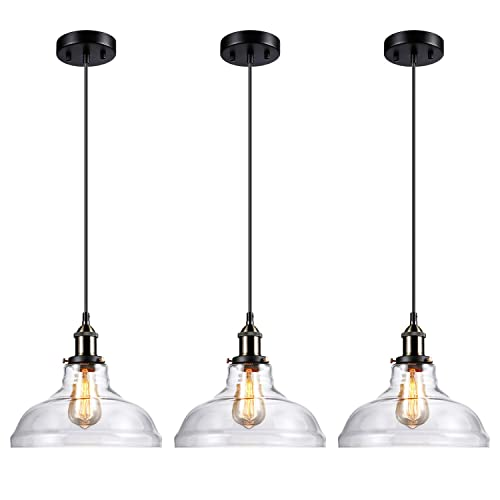 Pendant lighting for restaurants Modern Leonlite Industrial Clear Glass Pendant Light Fixture Ul Listed E26 Base Edison Vintage Amazoncom Pendant Lights Restaurant Amazoncom
