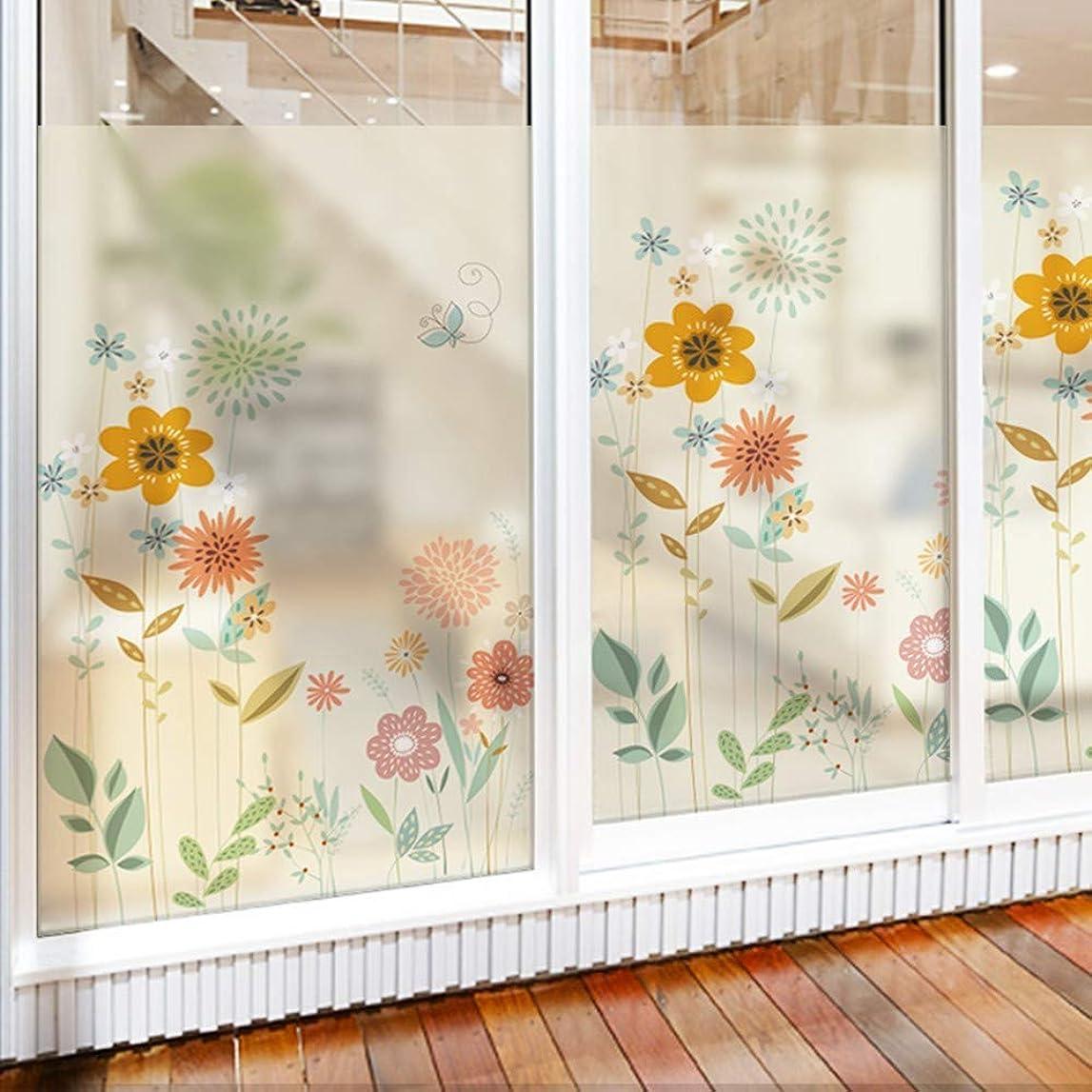 木材古風な失業窓のステッカー静かな時間寝室つや消し窓ステッカーバスルーム窓ガラスステッカープライバシー保護透明不透明ガラスフィルム