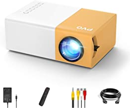 Mini Projector, PVO Portable Projector for Cartoon, Kids Gift, Outdoor Movie Projector, LED Pico Video Projector for Home ...