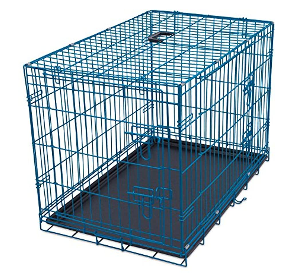 Internet's Best Wire Dog Kennel | Double Door Metal Steel Crates | Indoor Outdoor Pet Home | Folding and Collapsible Cage jofvvllqs