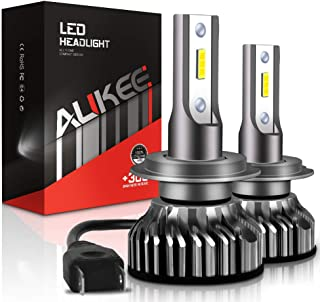 Aukee H7 LED Headlight Bulbs, 50W 6000K 10000 Lumens Extremely Bright CSP Chips Conversion Kit