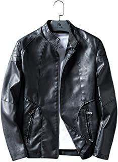 Leather Jacket Mens Motorcycle Jackets Heavy Duty Flight Bomber Jackets Warm Windbreaker