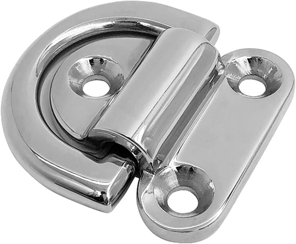 XSGZ 2pcs Stainless Steel D Ring Boat shipfree Deck Tampa Mall Marine Cleat Lashing