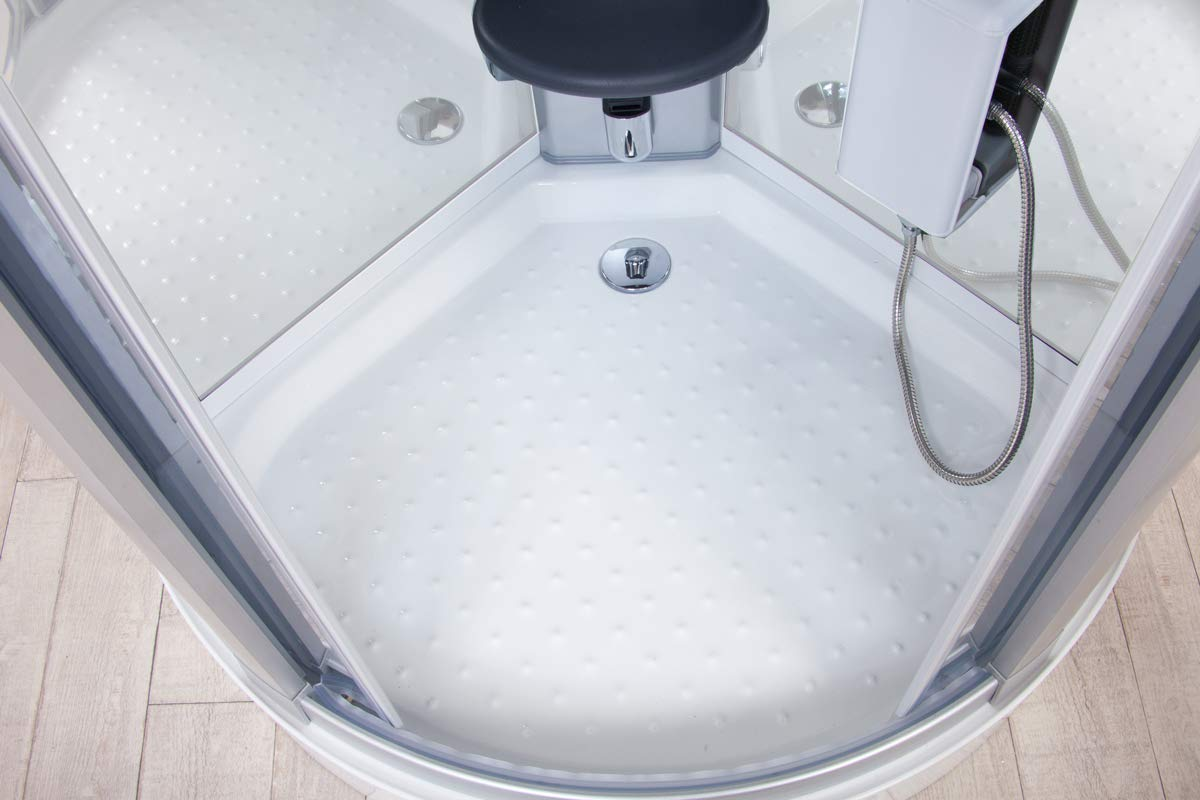 Cabina de ducha de hidromasaje White Eden 95 x 95 cm con sauna, baño turco y ozono: Amazon.es: Bricolaje y herramientas
