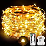 TOPLIFE Cadena de Luces, 10M 100 LED Guirnalda de Luces Impermeable...