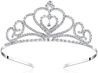 Lovelyshop Rhinestone Crystal Tiara-Wedding Bridal Prom Birthday Pegeant Prinecess Crown (Heart) 1 pack